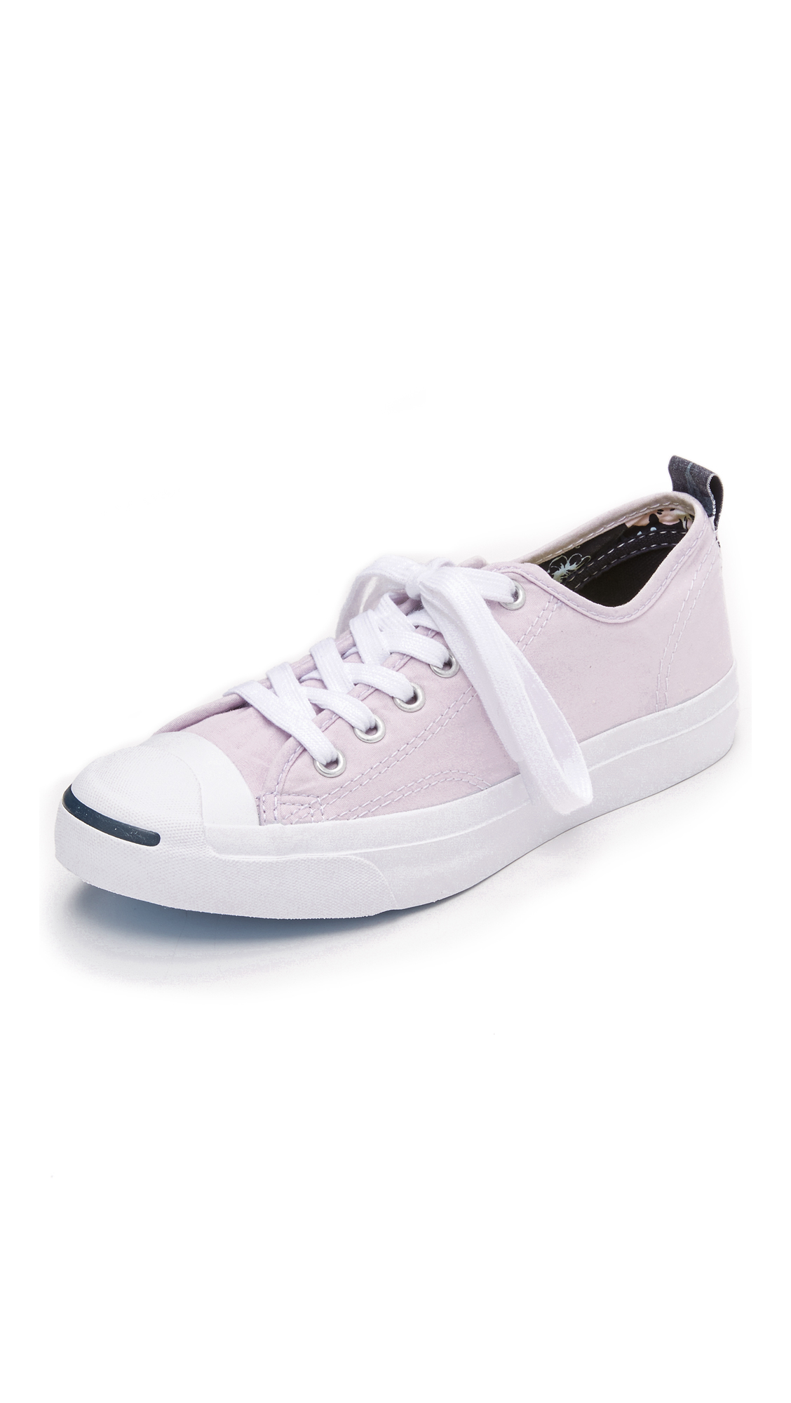d67aaf857285e8 Lyst - Converse Jack Purcell Jack Hawaiian Twill Sneakers in Pink