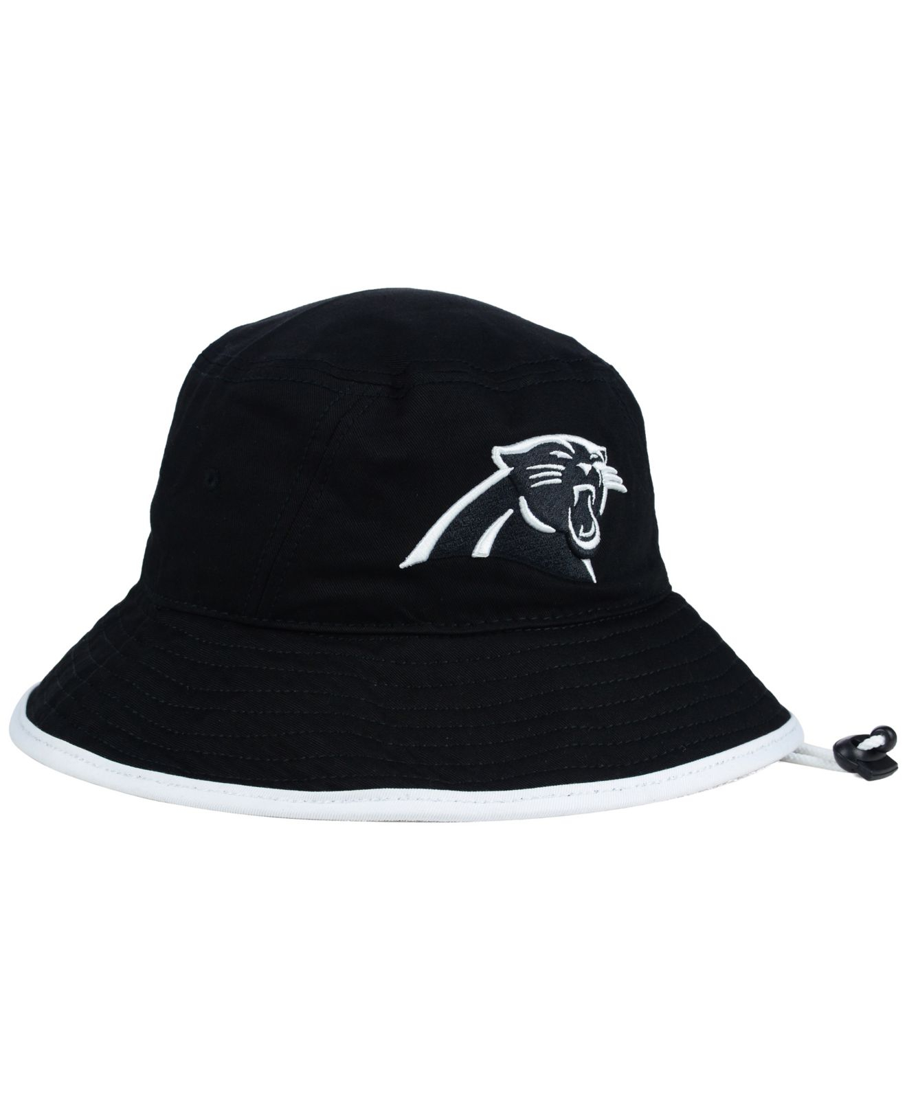 b0c4e4003907e ... inexpensive lyst ktz carolina panthers nfl black white bucket hat in  black 16c5f 88fba