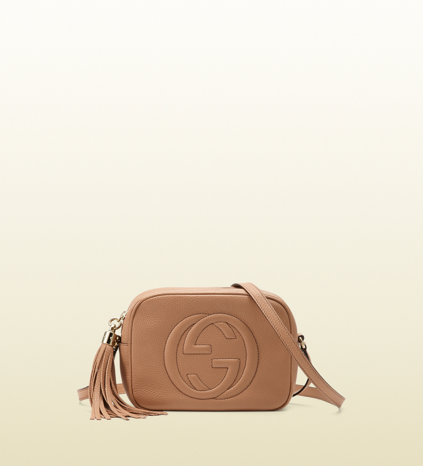 2170aa31828 Gucci Soho Leather Disco Bag in Natural - Lyst
