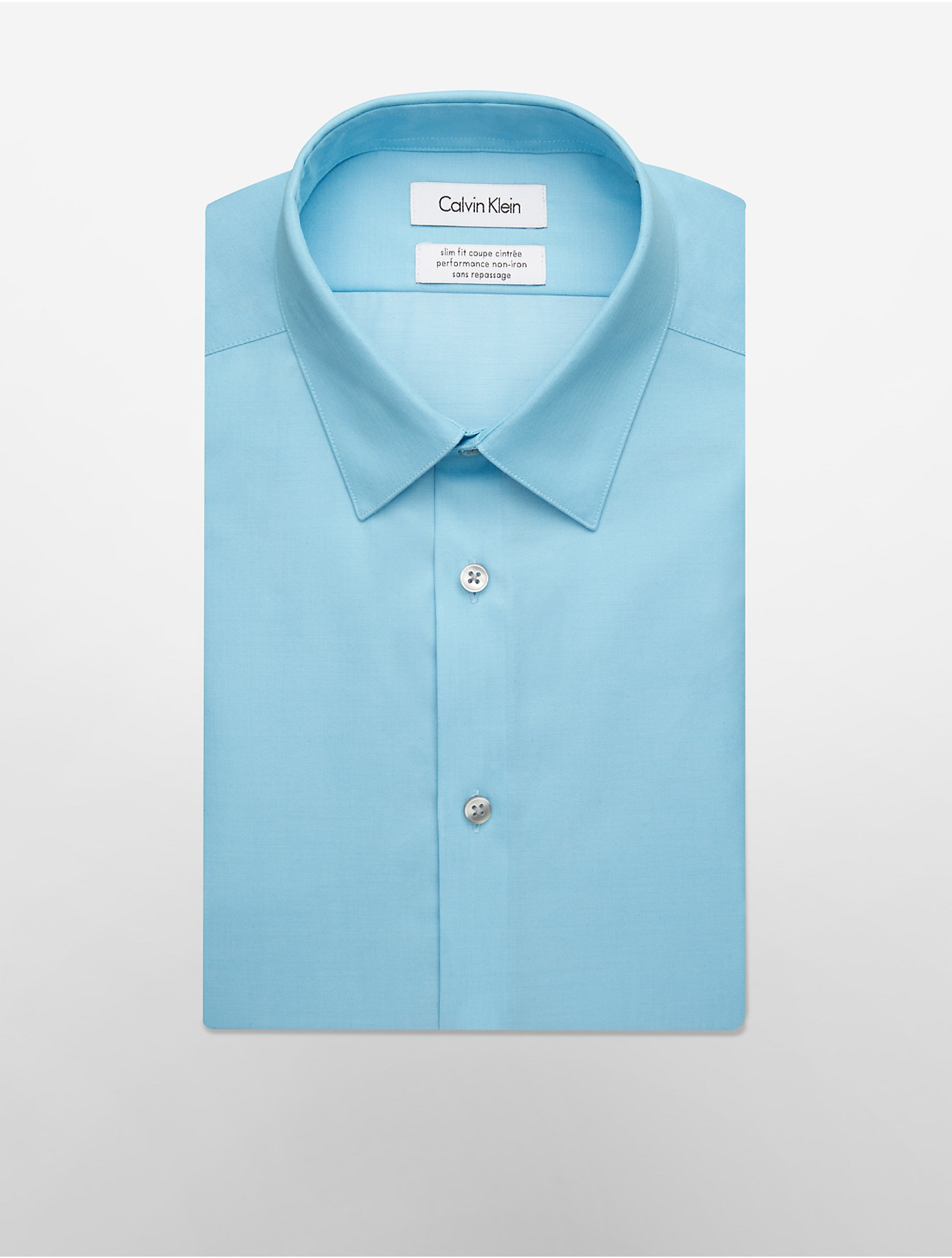 Lyst calvin klein white label steel slim fit non iron for White herringbone dress shirt