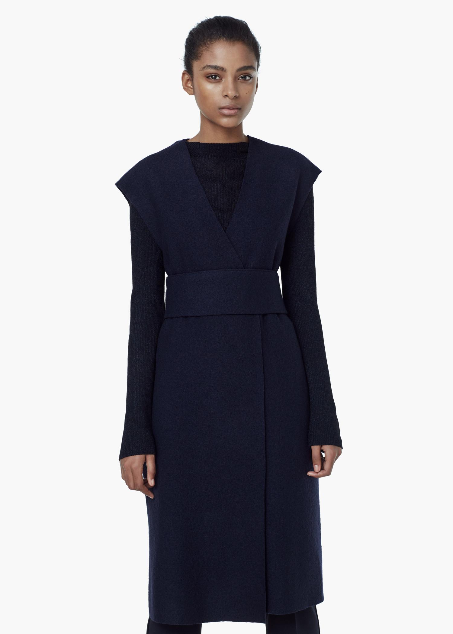Gilet Blue Premium Wool Lyst Mango In RwYtqFqH 8558460ad27