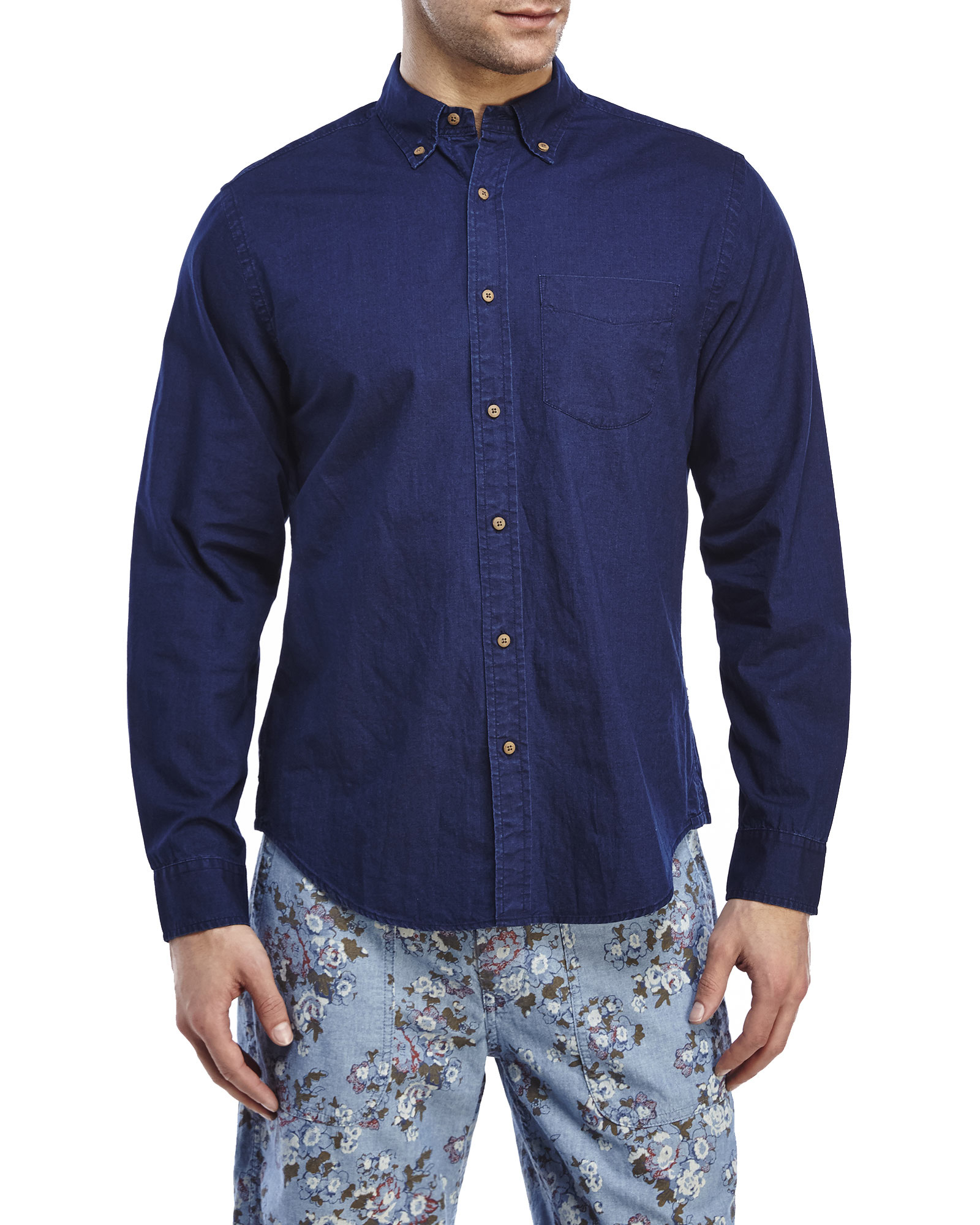 Lyst Alex Mill Bay Button Down Sport Shirt In Blue For Men
