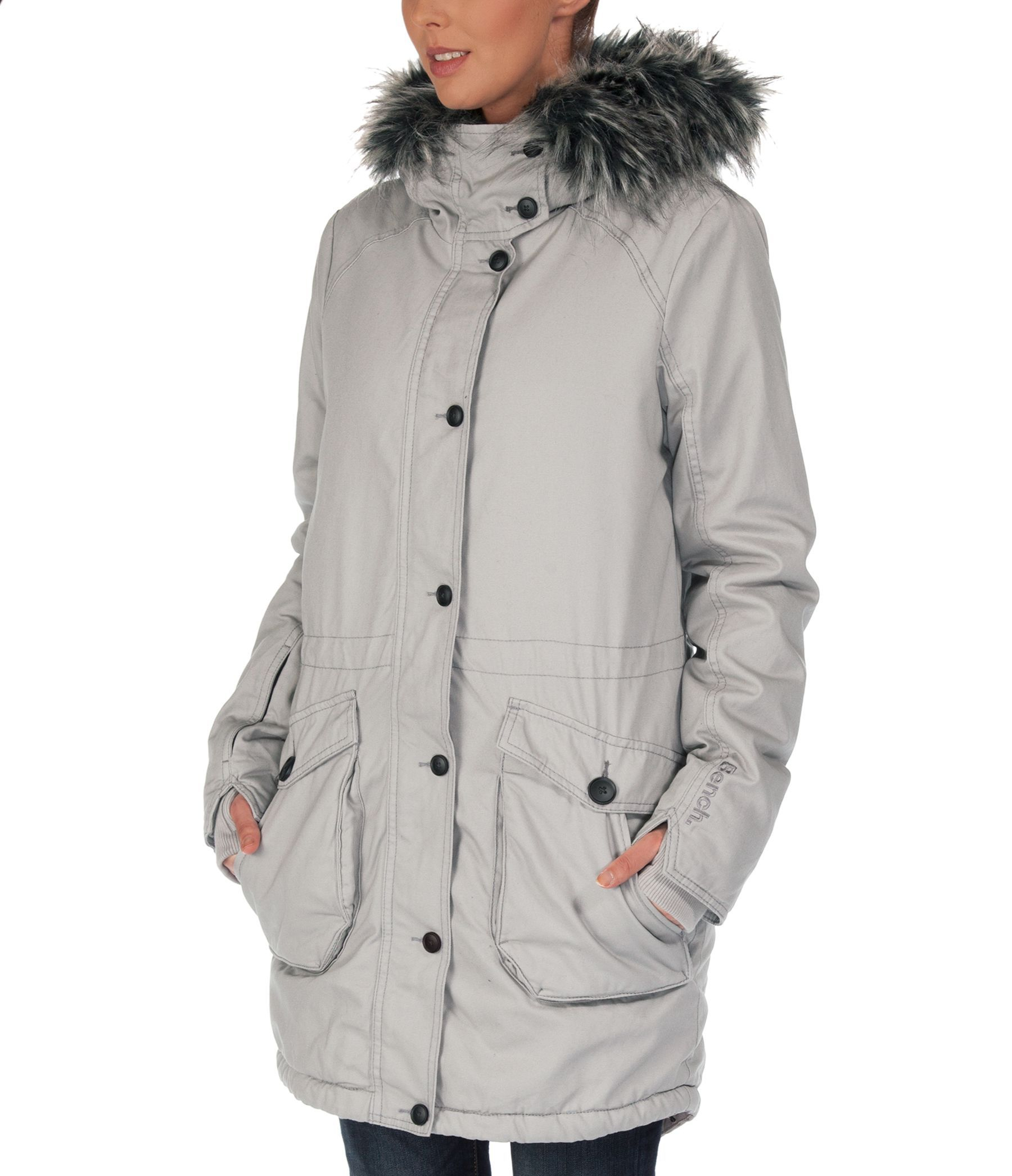 Bench Wolfish Jacket In Gray Lyst