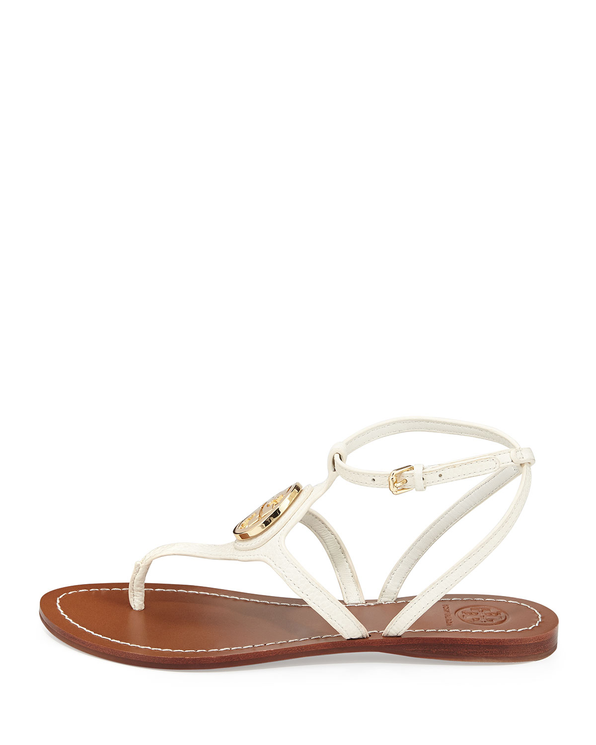 b270e6bbb ... get tory burch leticia logo thong sandal ivory in white lyst c1a12 8f9a2
