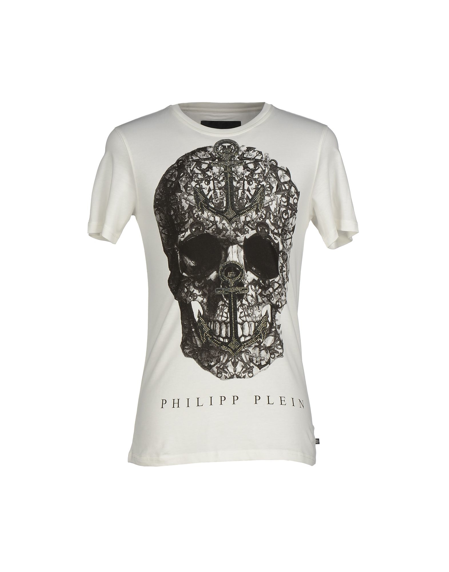 lyst philipp plein t shirt in white for men. Black Bedroom Furniture Sets. Home Design Ideas