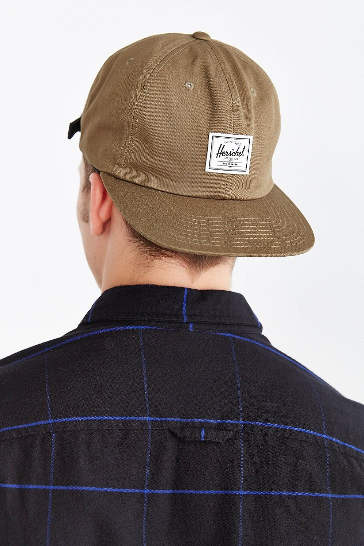new style a41f2 54124 ... inexpensive herschel supply co. albert strapback hat in natural for men  lyst e4939 8f7ad