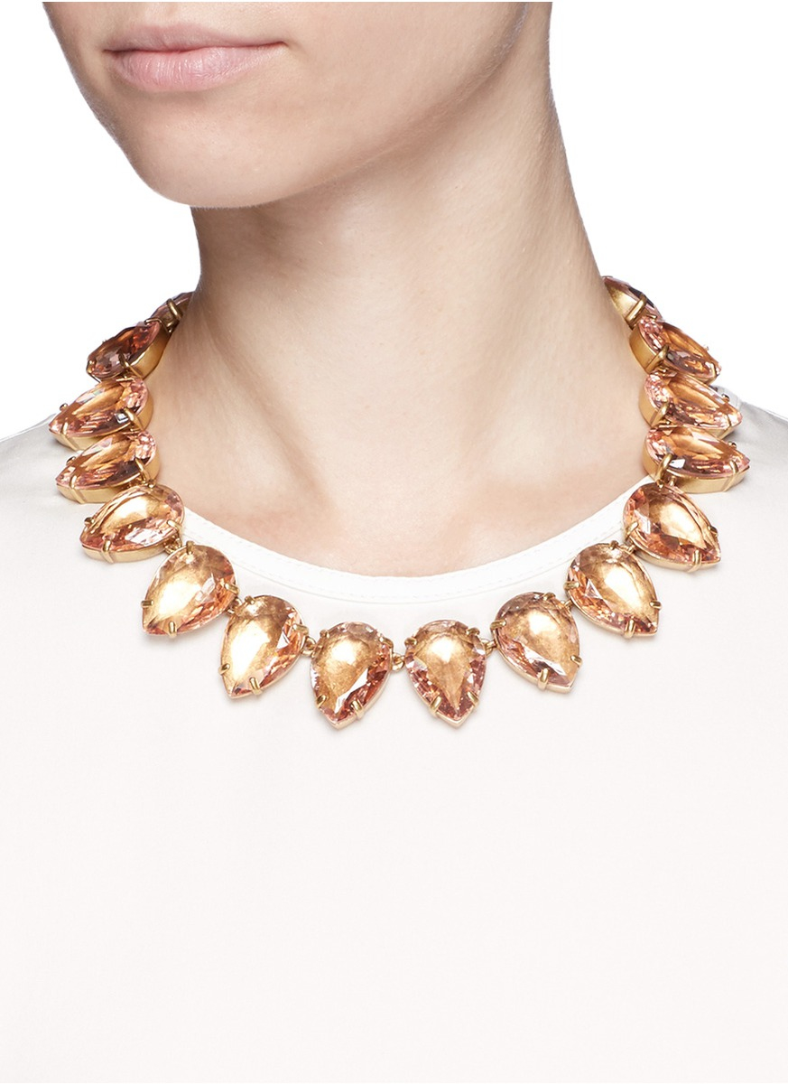 Lyst teardrop necklace in pink for J crew jewelry 2015