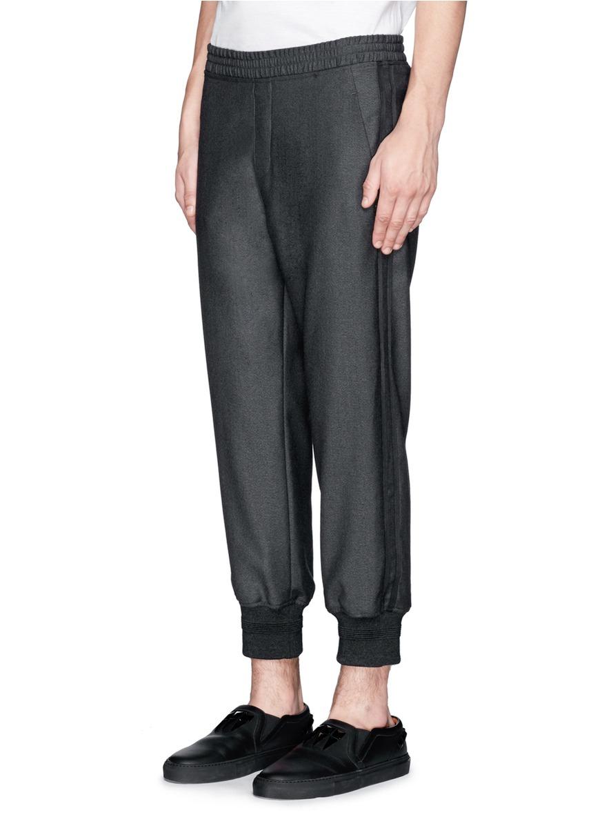 Lyst Neil Barrett Double Tuxedo Stripe Wool Pants In
