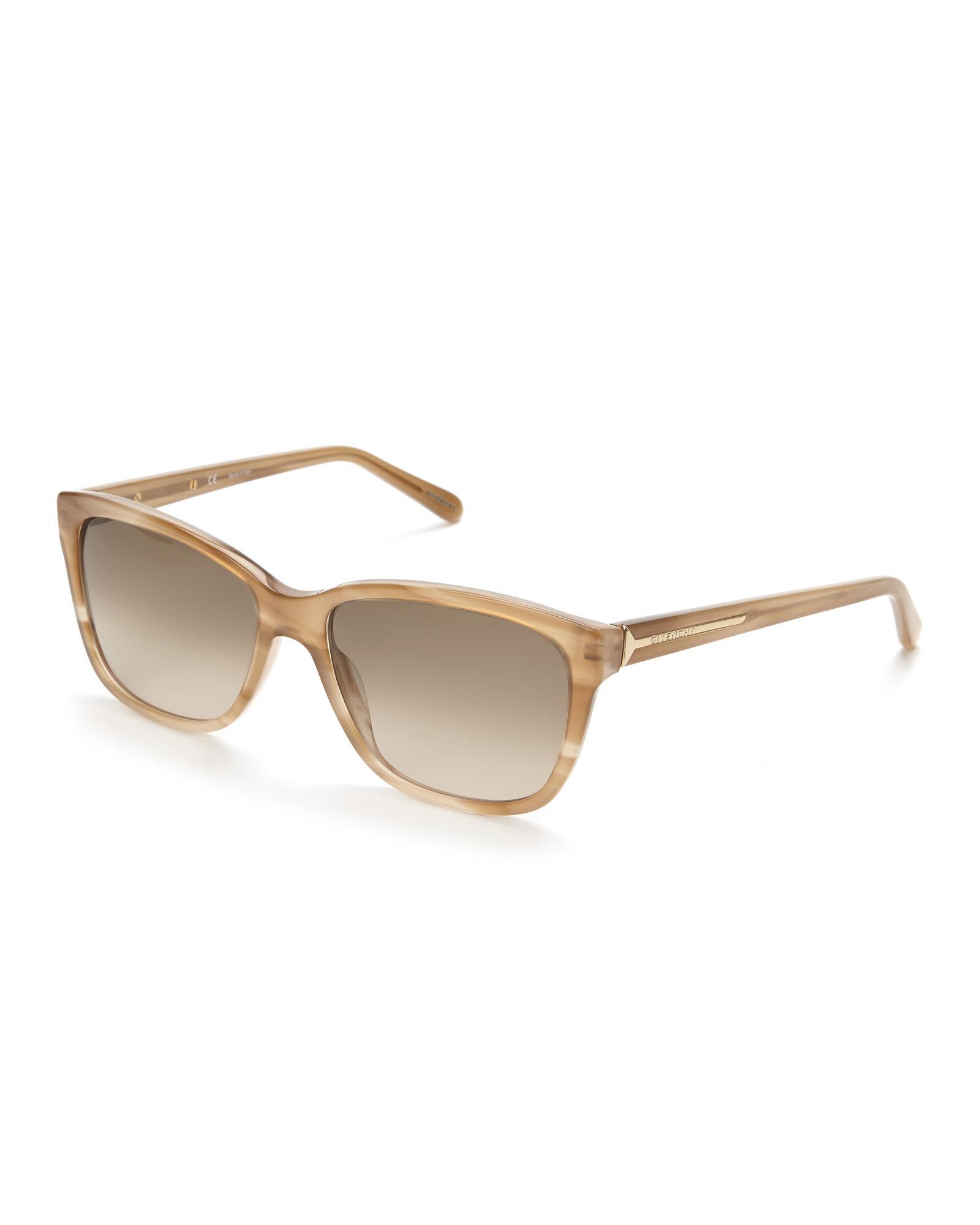 Metallic Gold Frame Wayfarer Sunglasses : Givenchy Gold Sgv 811 Wayfarer Sunglasses in Metallic Lyst