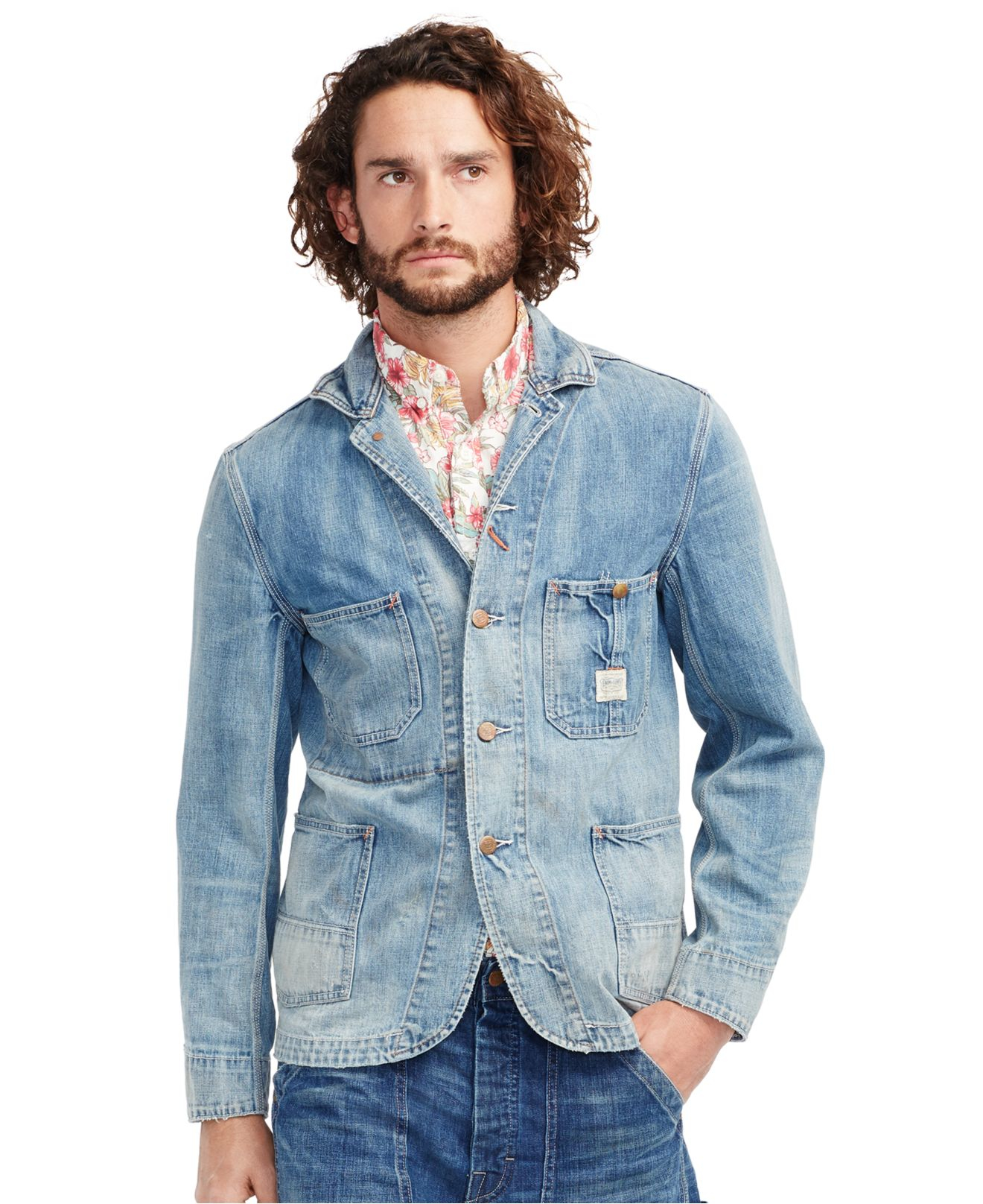 Denim u0026 supply ralph lauren Denim Chore Jacket in Blue for Men | Lyst