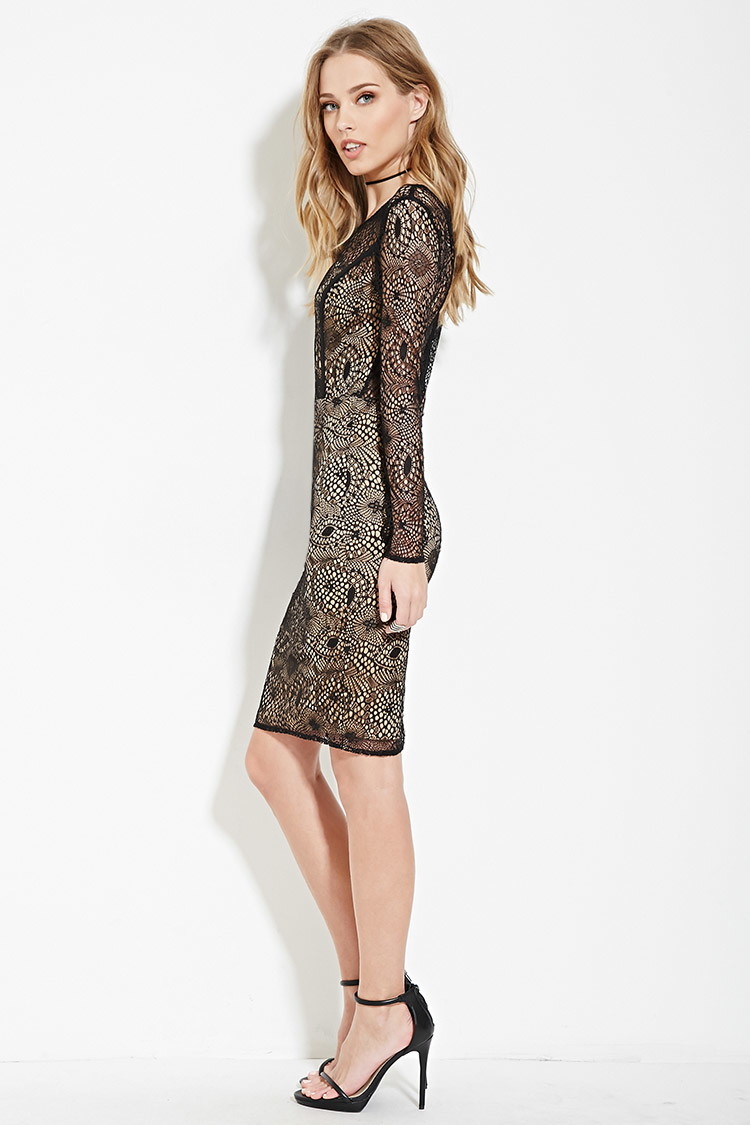 Sweetheart lace bodycon dress forever 21