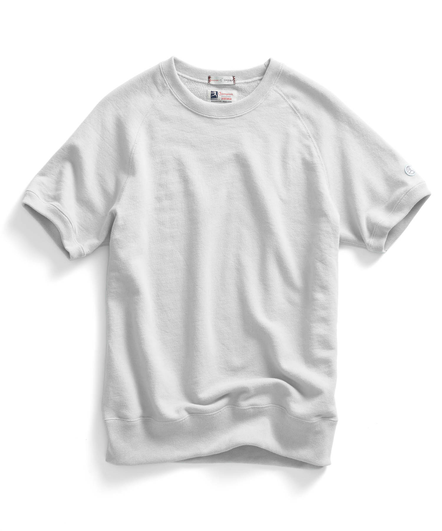 Todd snyder Short Sleeve Sweatshirt In White in White for Men | Lyst