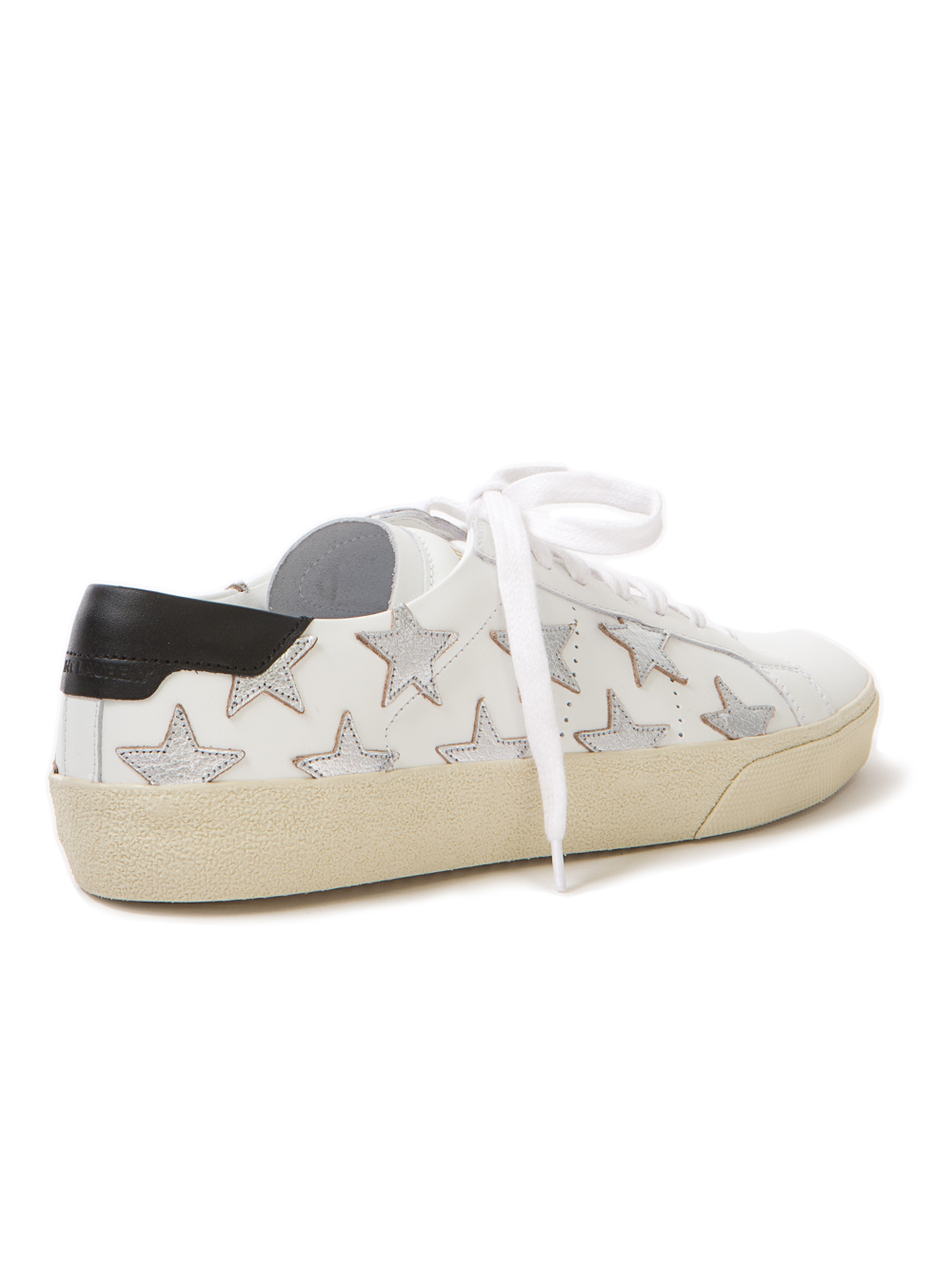saint laurent star sneakers in gray lyst. Black Bedroom Furniture Sets. Home Design Ideas