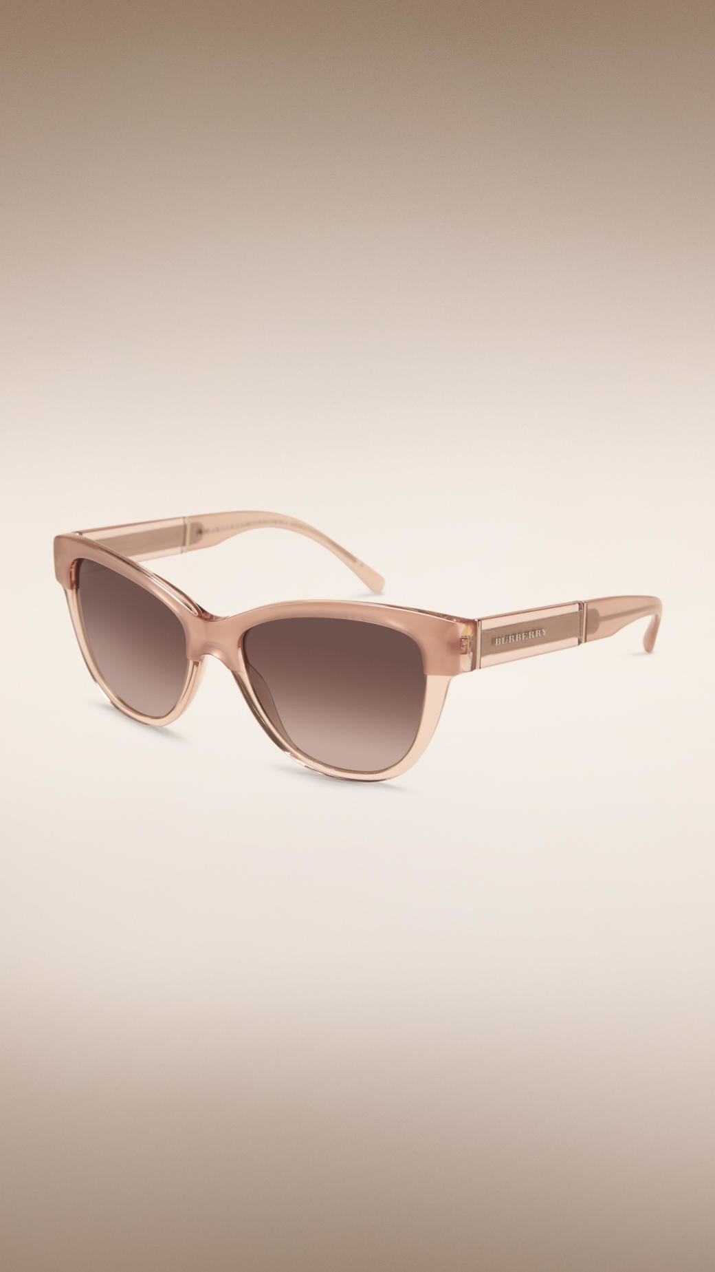 59de29eaed061 Burberry Cat-eye Sunglasses Nude in Natural - Lyst