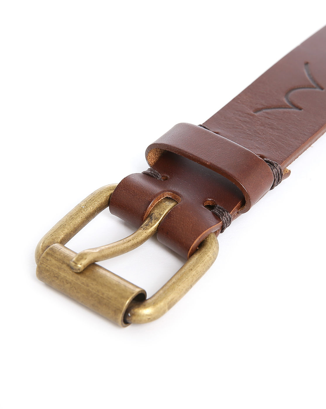 edwin brown thin leather belt in brown for lyst