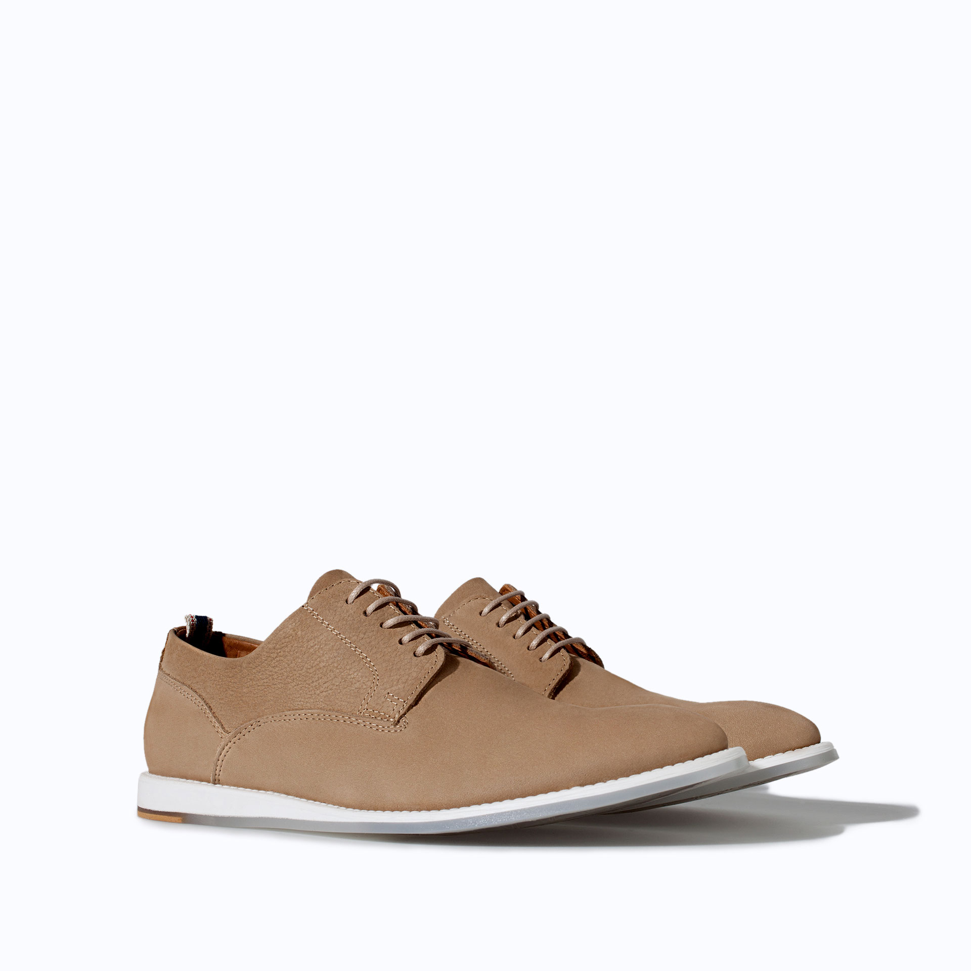Zara Laceup Shoes with Wedge in Brown for Men | Lyst