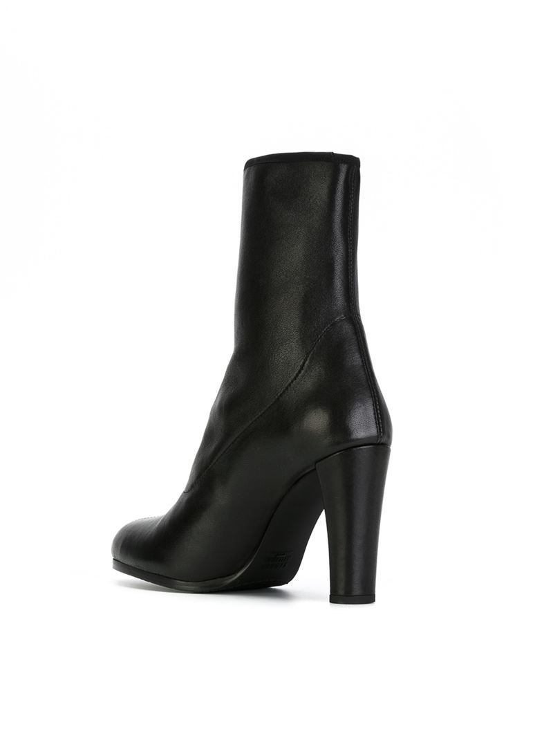 stuart weitzman chunky heel boots in black lyst