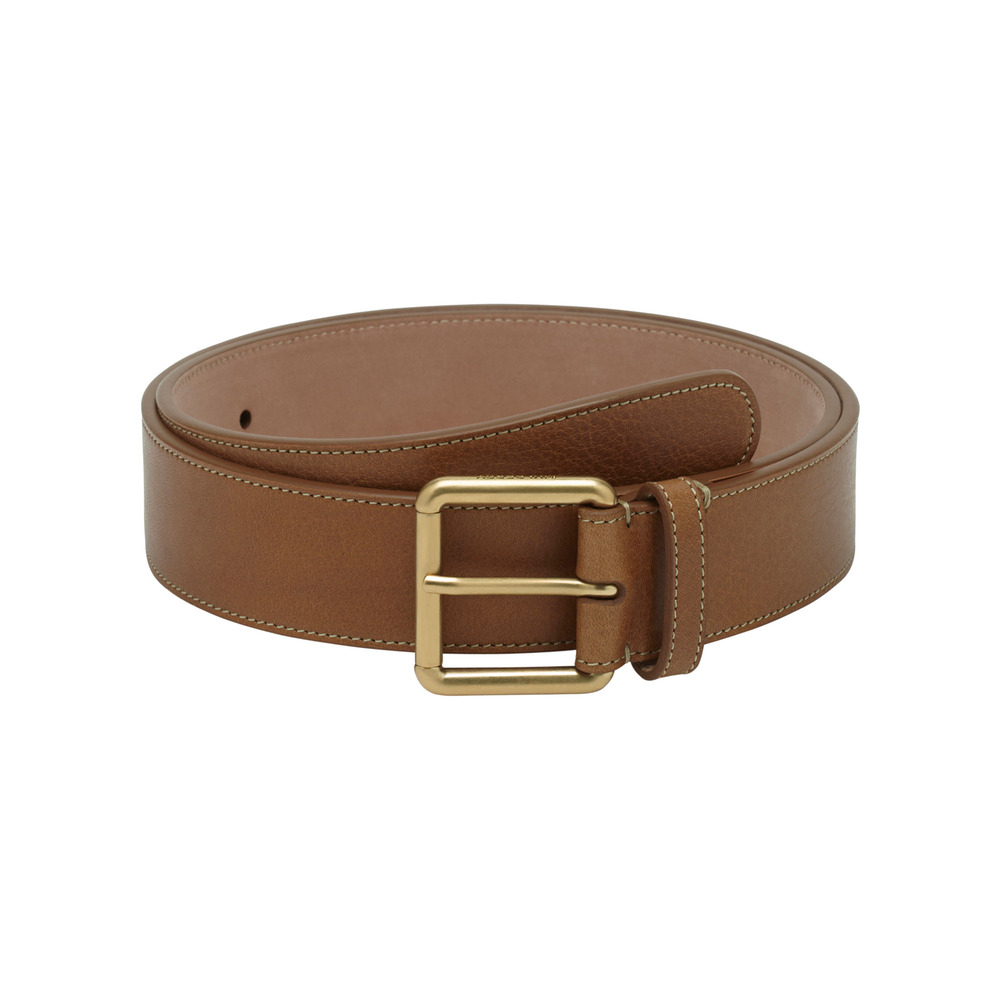 mulberry wide buckle belt in brown lyst