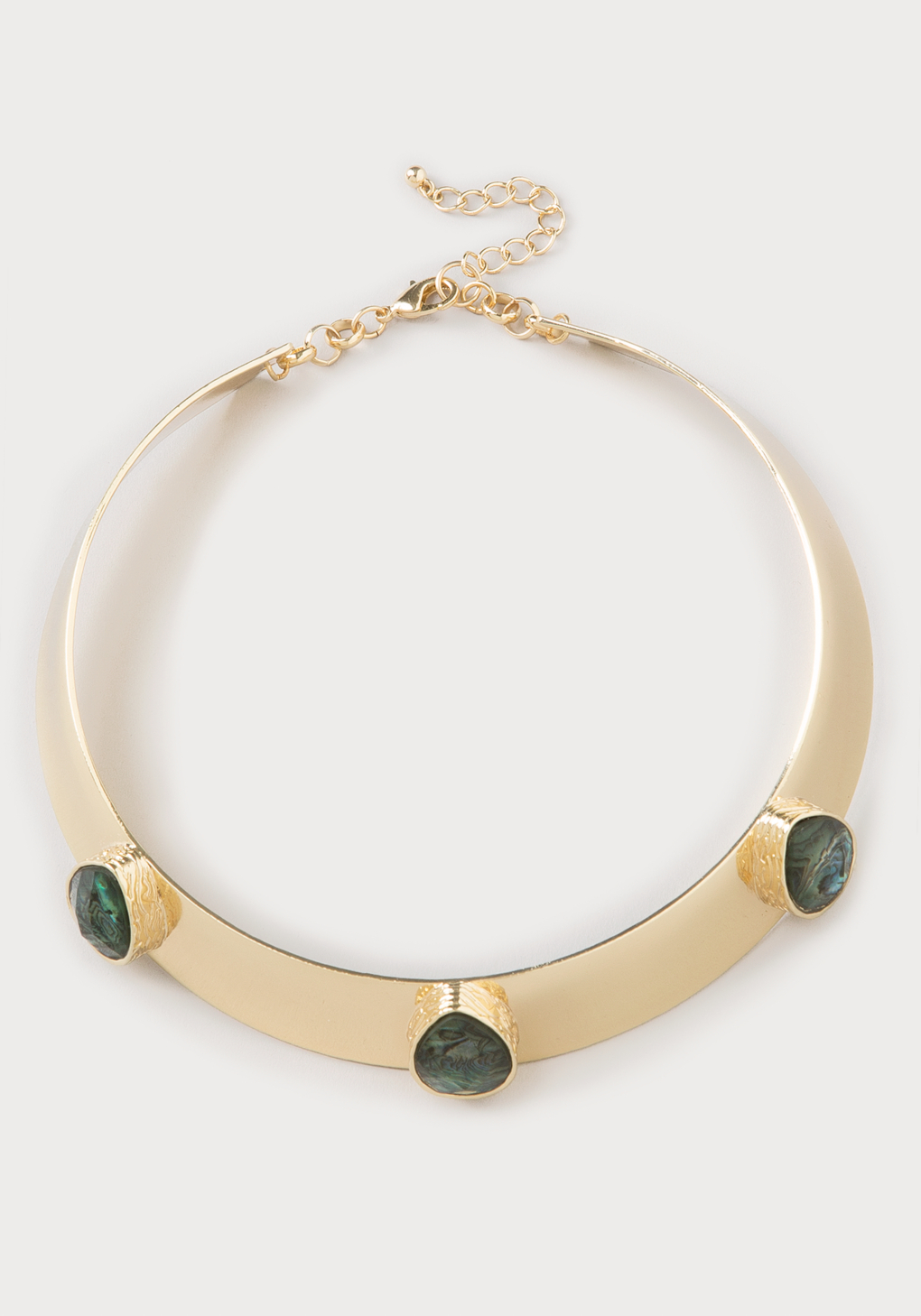 bebe 3 collar necklace in green lyst