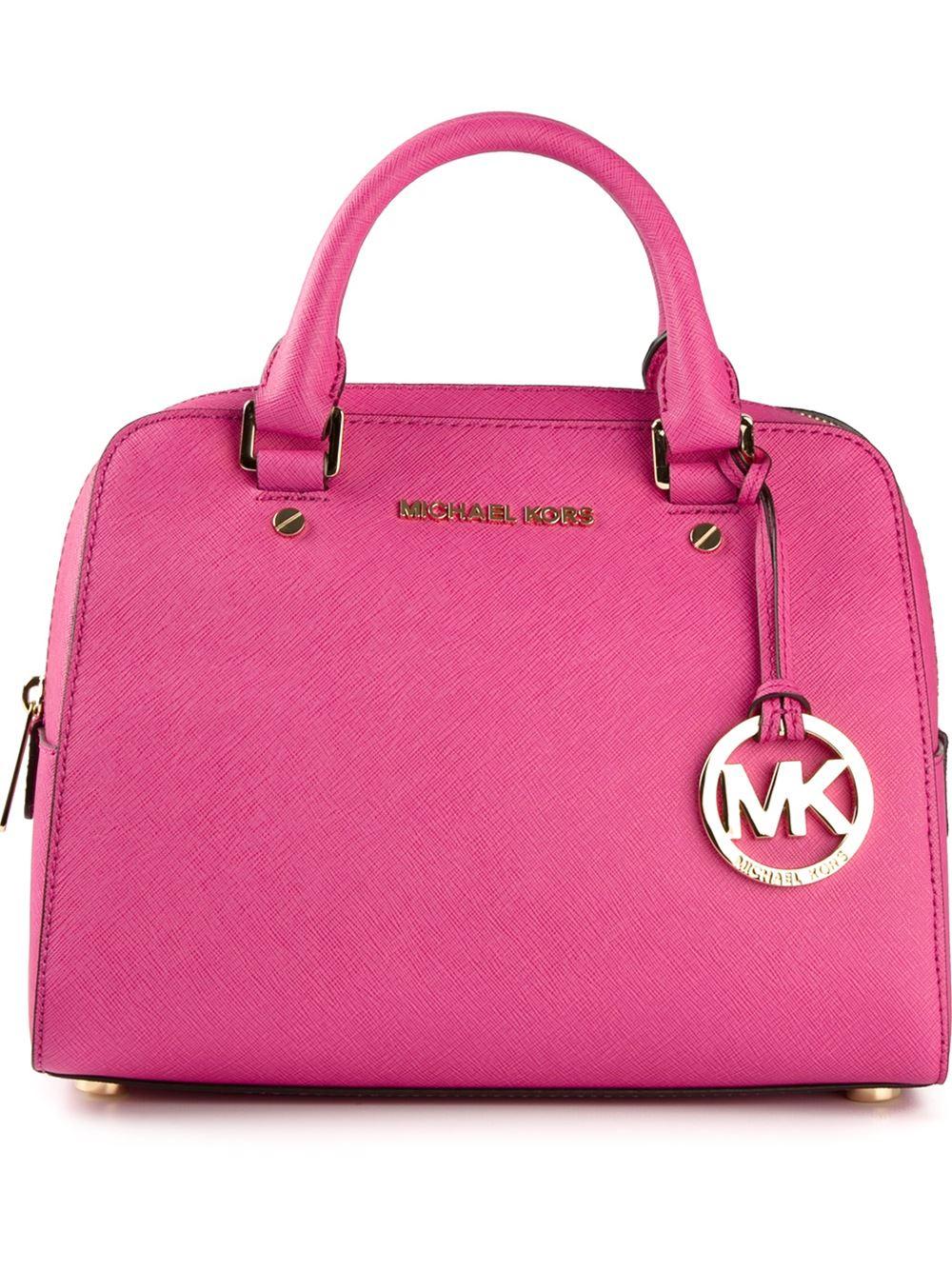 Lyst Michael Kors Jet Set Travel Satchel In Pink Mercer Authentic Gallery