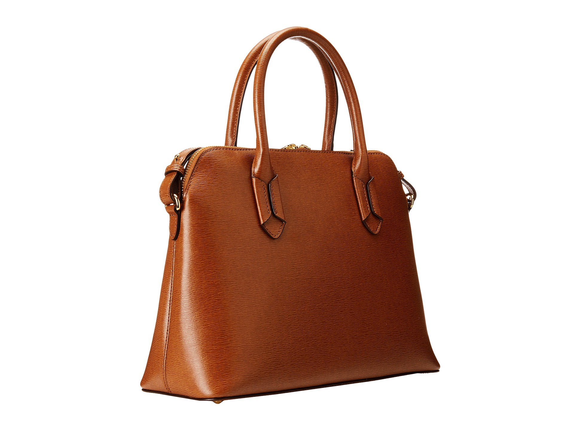 Ralph Lauren Tate Dome Satchel Laukku : Lauren by ralph tate dome satchel in brown lyst