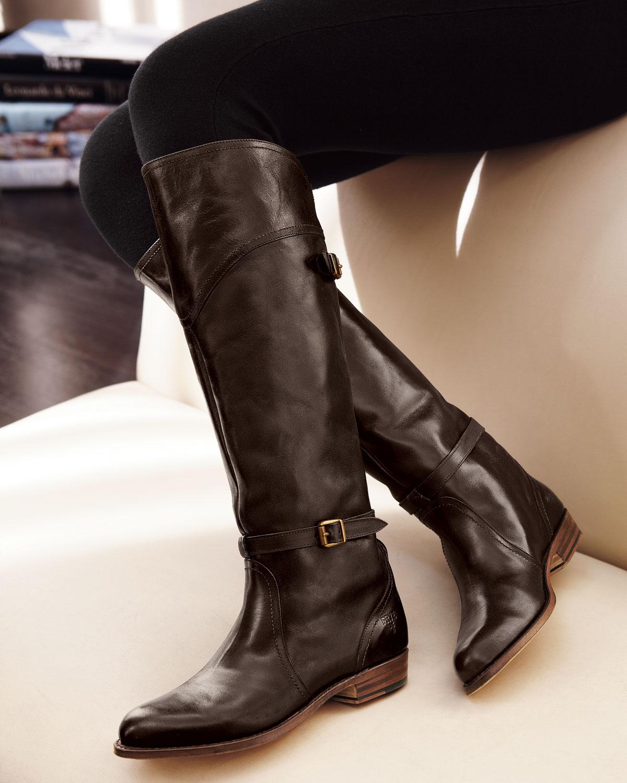 Frye Dorado Riding Boot in Black | Lyst