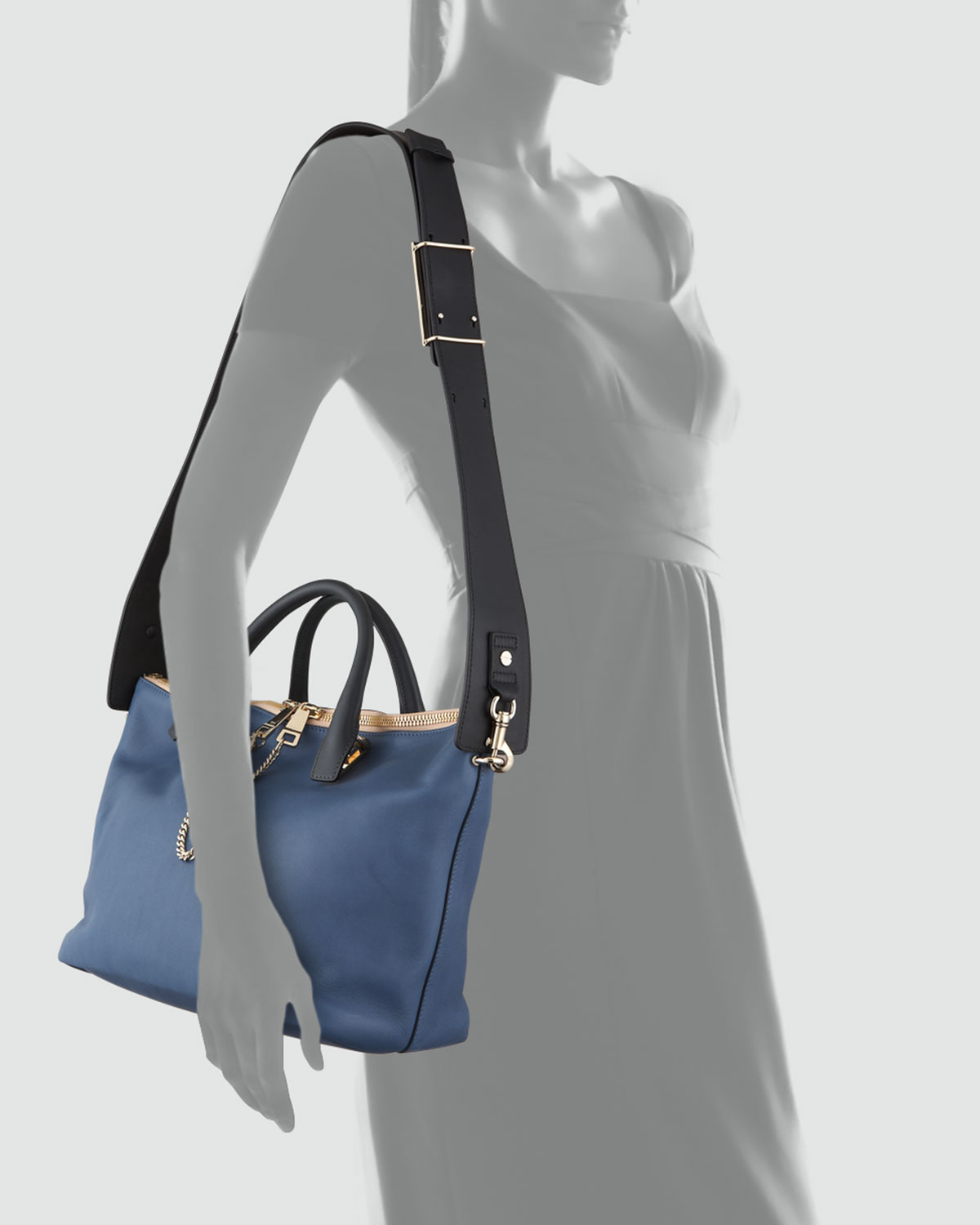 Chlo¨¦ Baylee Small Chainzip Shoulder Bag Blue in Blue | Lyst