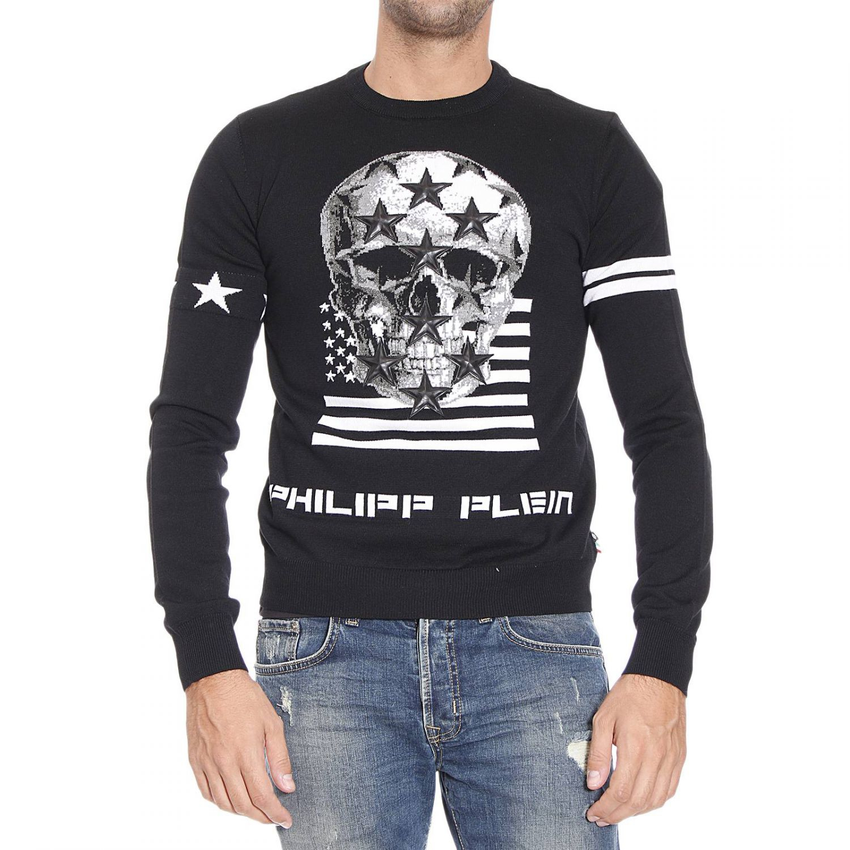 philipp plein sweater in black for men lyst. Black Bedroom Furniture Sets. Home Design Ideas