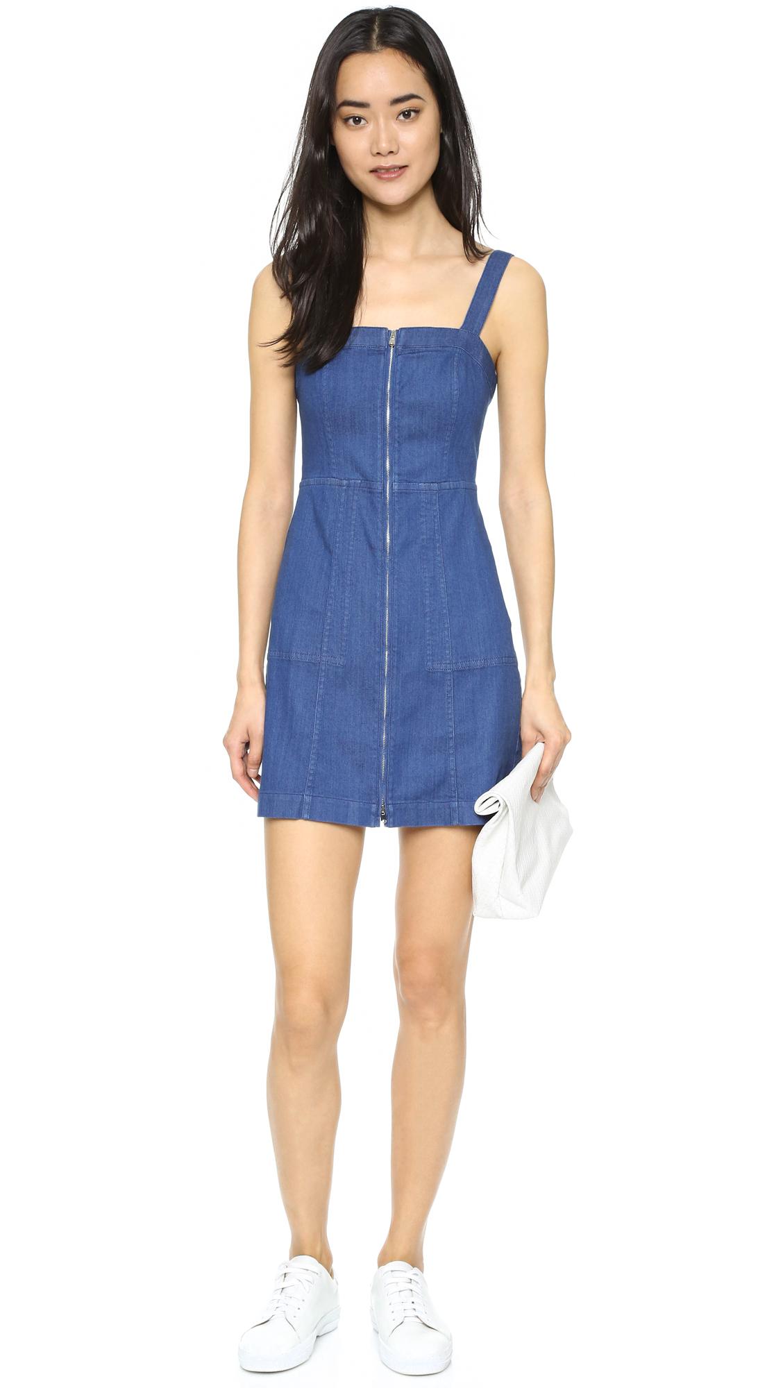Club monaco Jinenne Denim Dress in Blue  Lyst