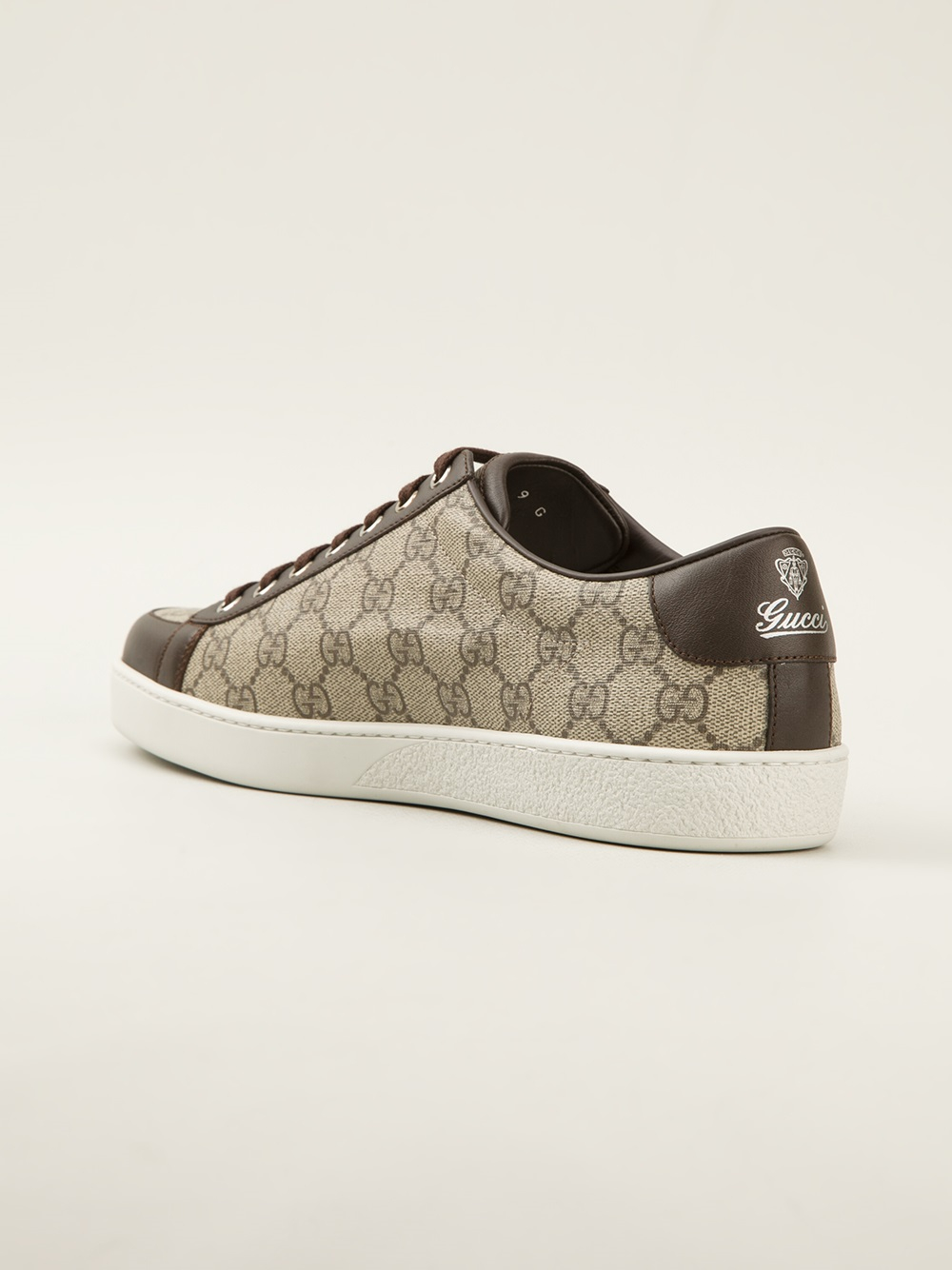 d098589c8f43 Lyst - Gucci Monogram Print Trainer in Brown for Men