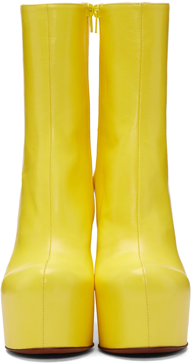 8892f1009ff Lyst - Vetements Leather Platform Ankle Boots in Yellow