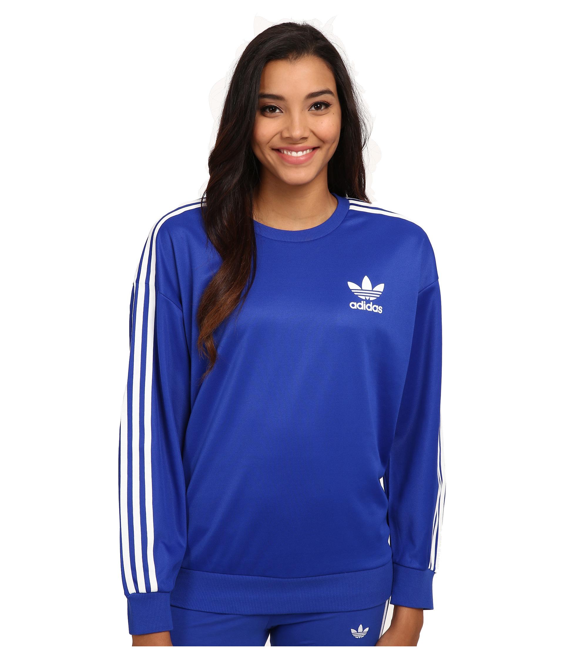 639c1cf8004c Lyst - adidas Originals 3-stripes Sweatshirt in Blue