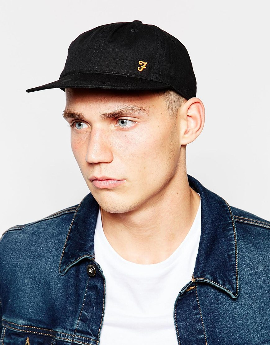 Lyst - Farah Baseball Cap in Black for Men eec11de03da