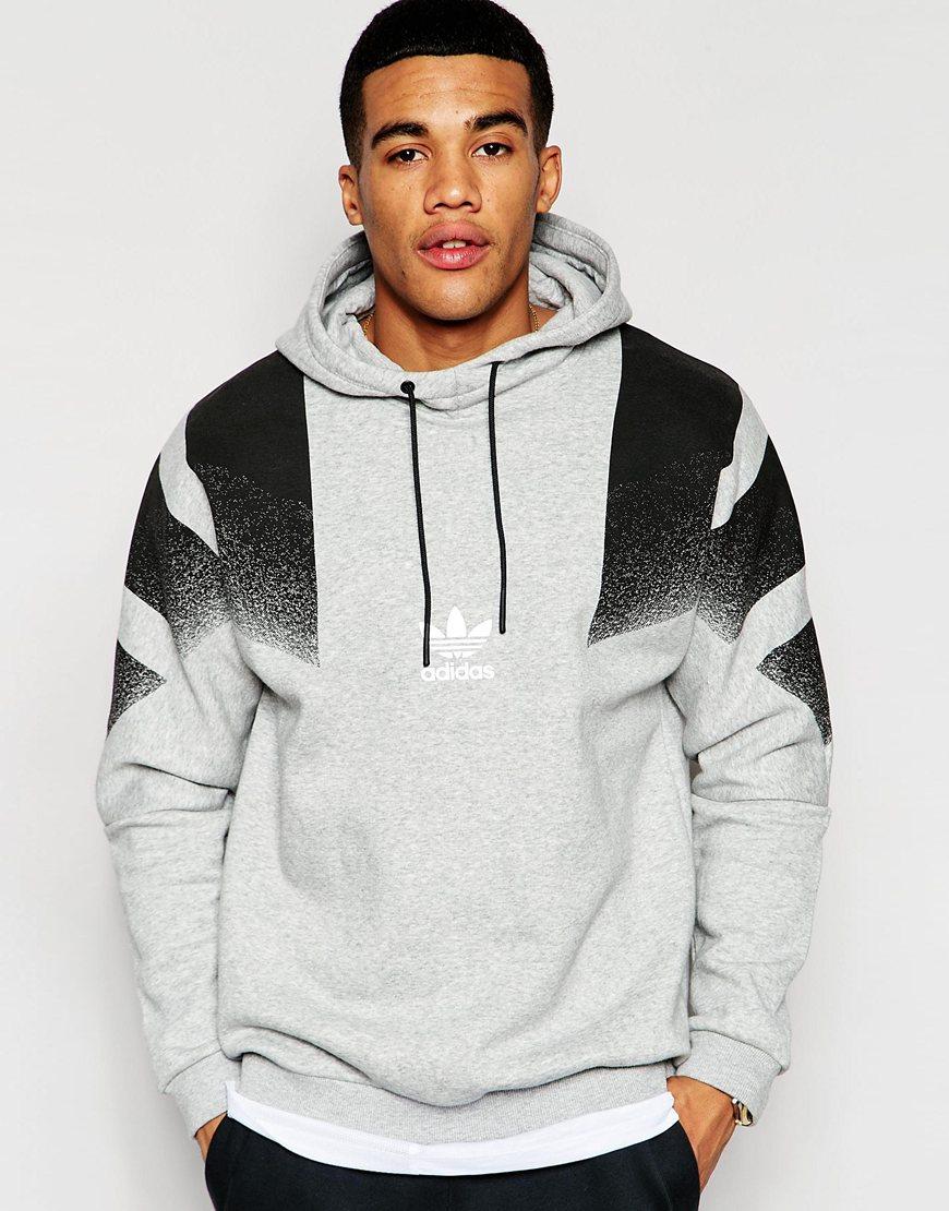 adidas originals retro hoodie aj7890 in black for