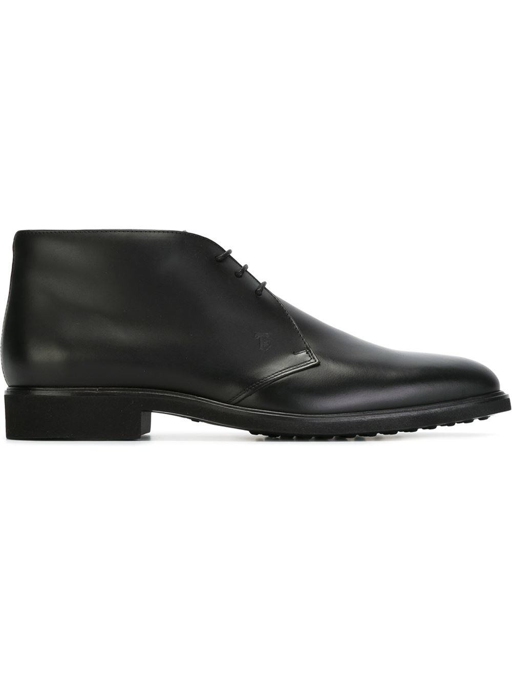 tod 39 s classic desert boots in black for men lyst. Black Bedroom Furniture Sets. Home Design Ideas
