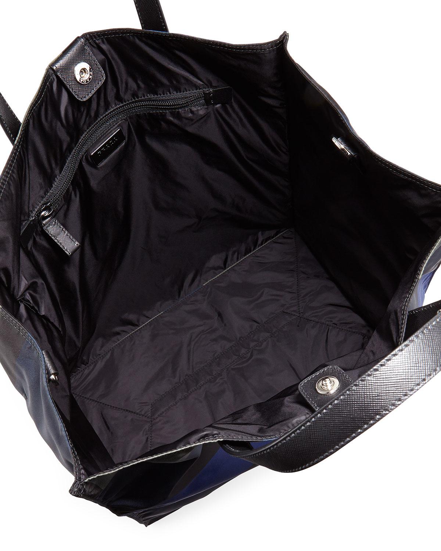 black nylon prada shoulder bag