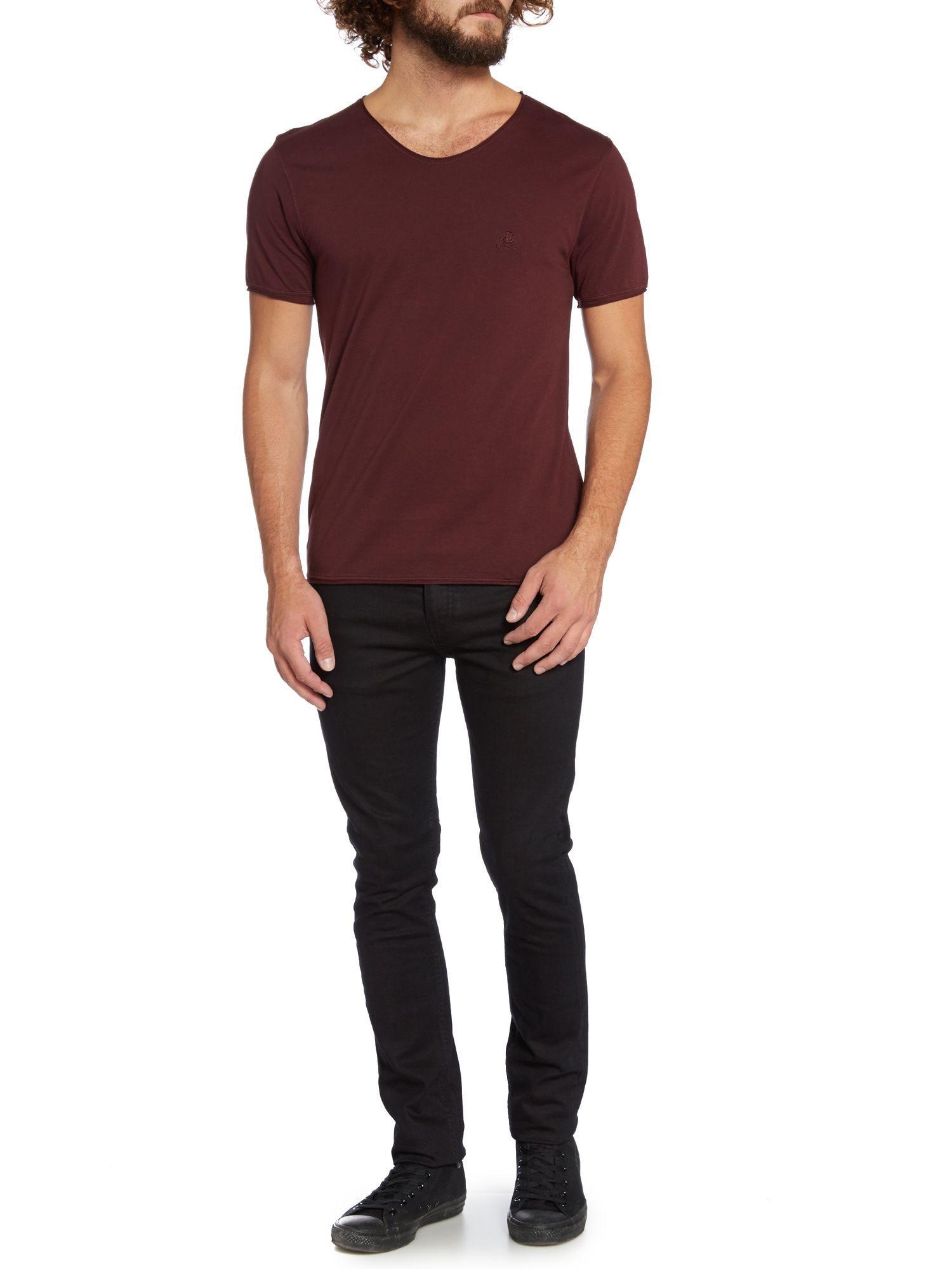 Label Lab Band Pigment Jersey Scoop Neck Tshirt in Purple for Men (Ox ...