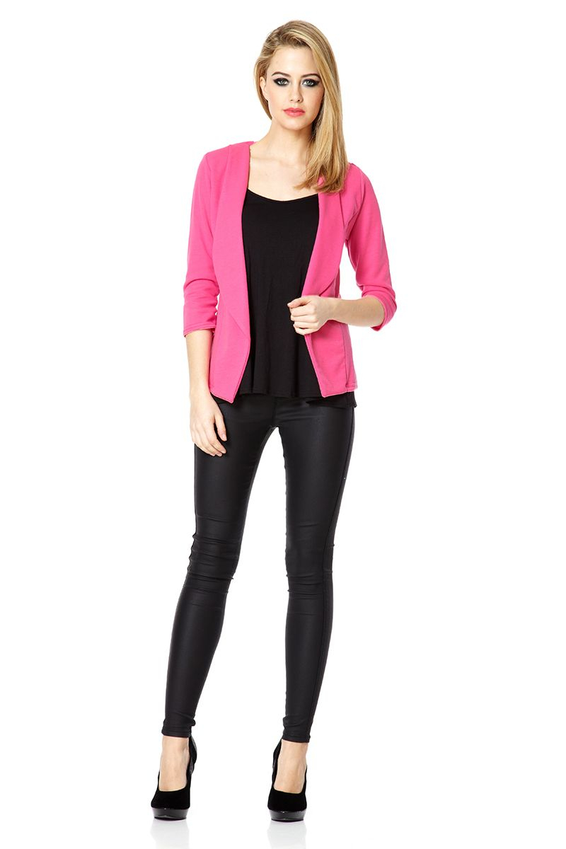 Quiz Waterfall Jacket In Pink Lyst