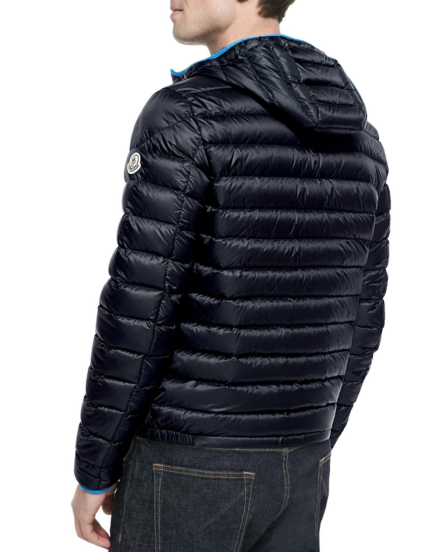 Moncler Athenes Hooded Puffer Jacket In Black For Men Lyst