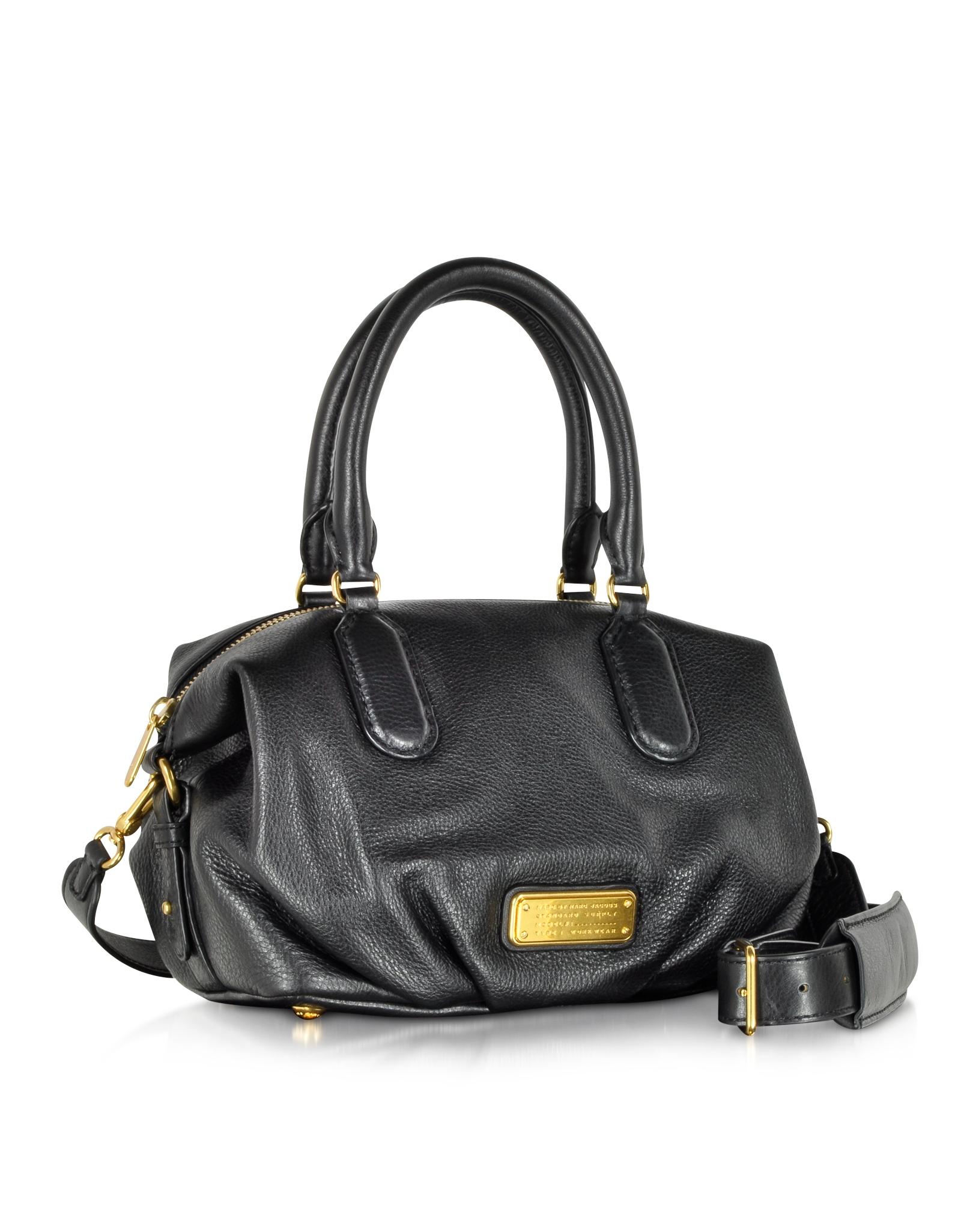 Marc by marc jacobs New Q Small Legend Black Leather Shoulder Bag ...