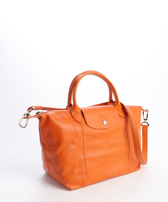 Longchamp Orange Leather Bag