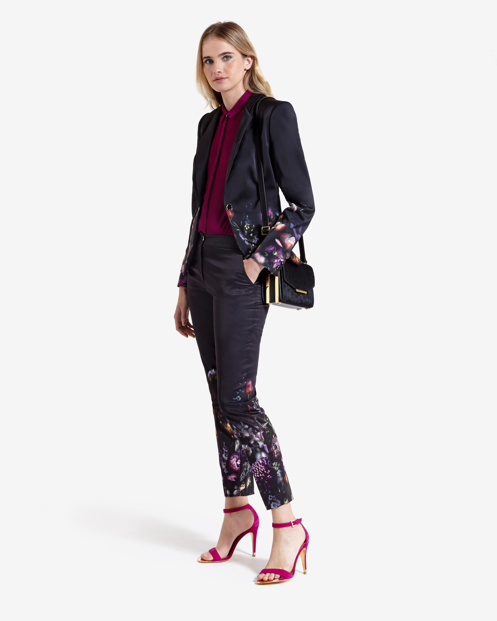 84e8afbad4d7 Lyst - Ted Baker Shadow Floral Trousers