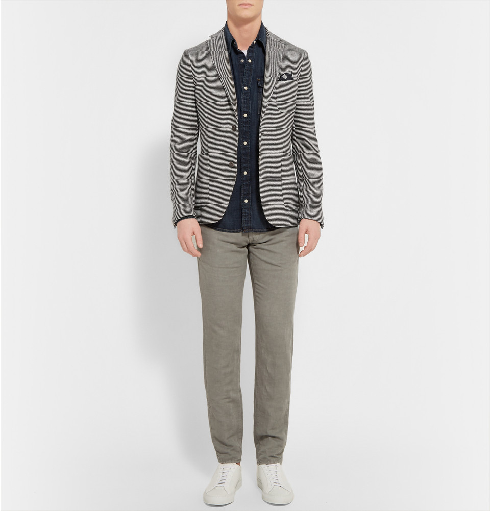 Incotex Montedoro Giacco Slim-Fit Unstructured Knitted ...