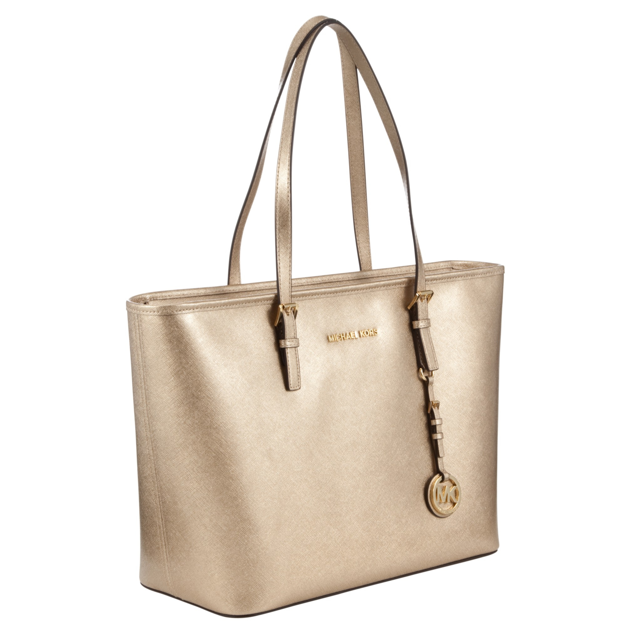 Bolsa Michael Kors Jet Set Saffiano : Pin bolsa michael kors saffiano gold on