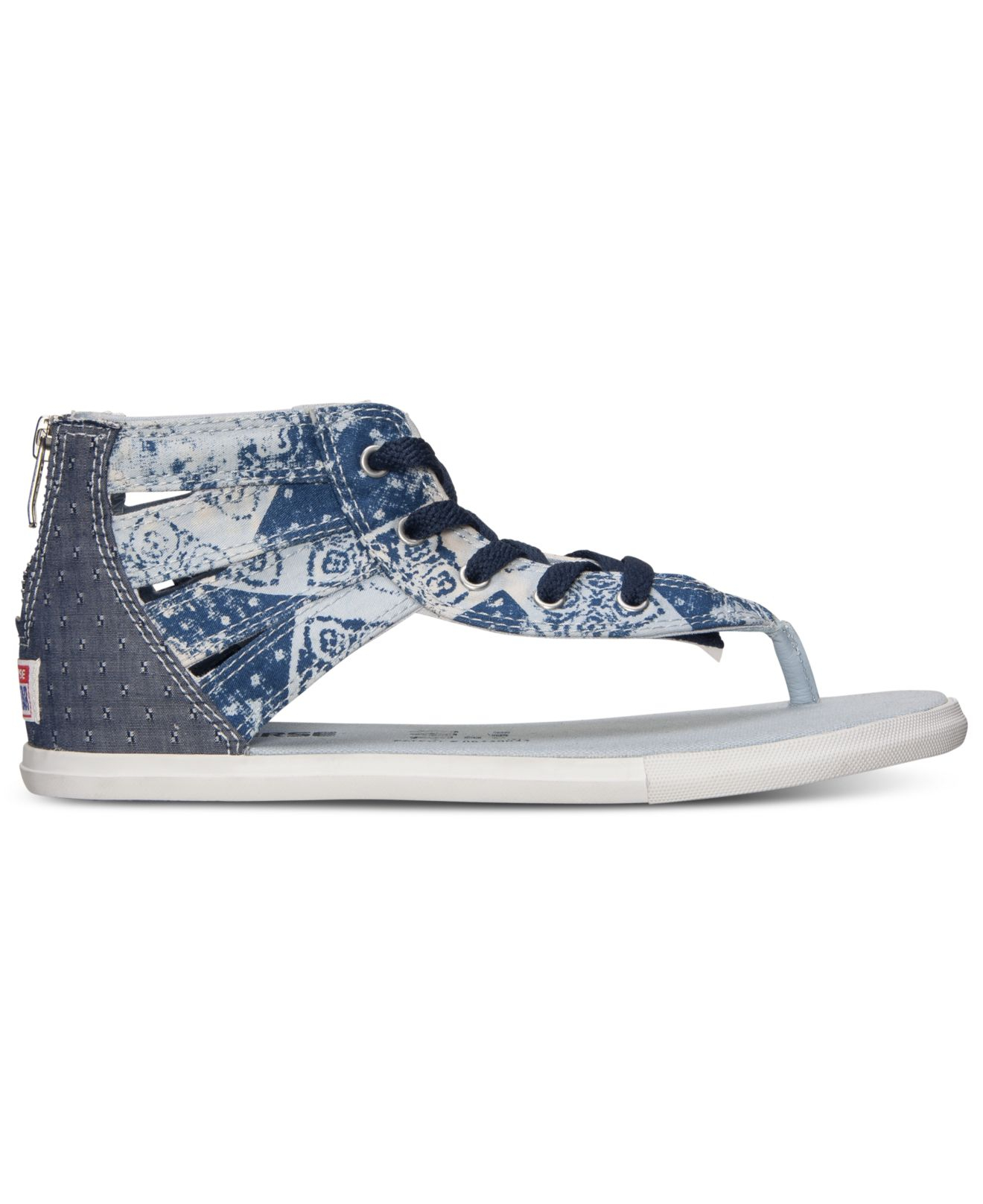 Lyst - Converse Women s Chuck Taylor Gladiator Thong Sandals From ... 652dc33b1