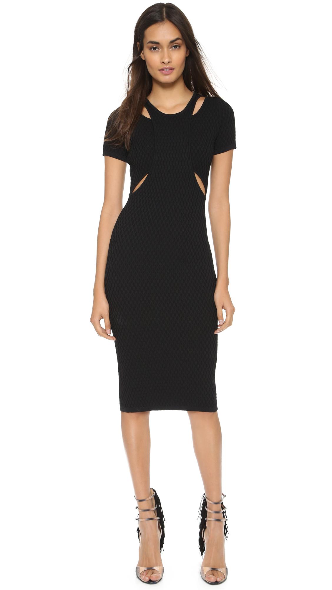 Short Black Cut Out Dresses