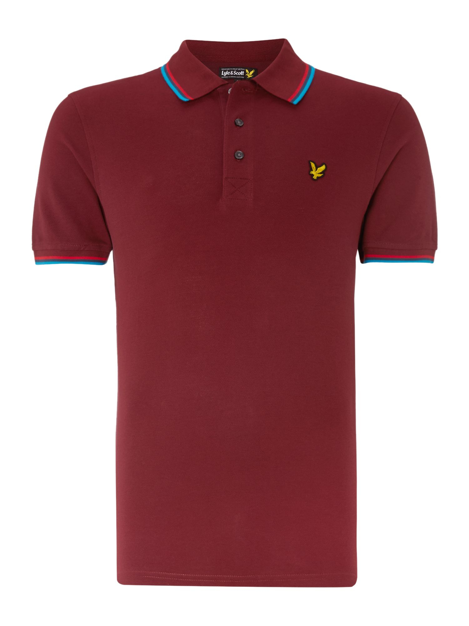 Lyle Scott Regular Fit Tipped Collar Polo Shirt In