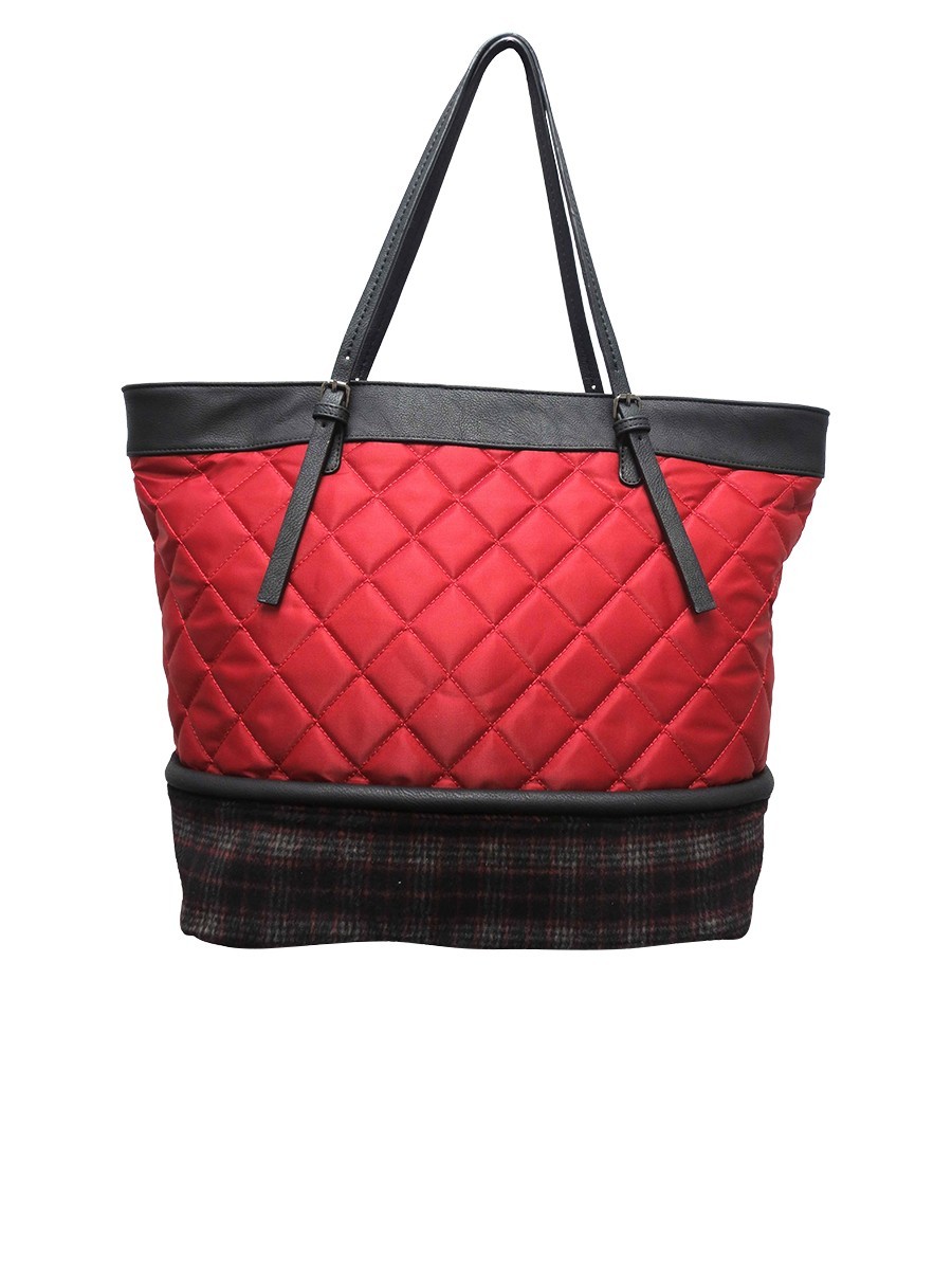 Quilted Nylon Tote 86