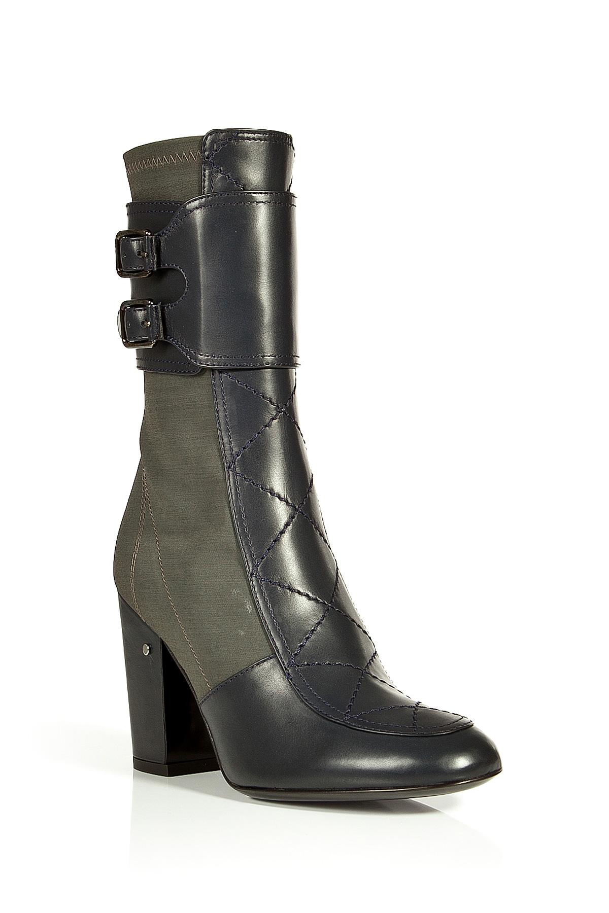 laurence dacade calf leather stretch crepe galice boots in