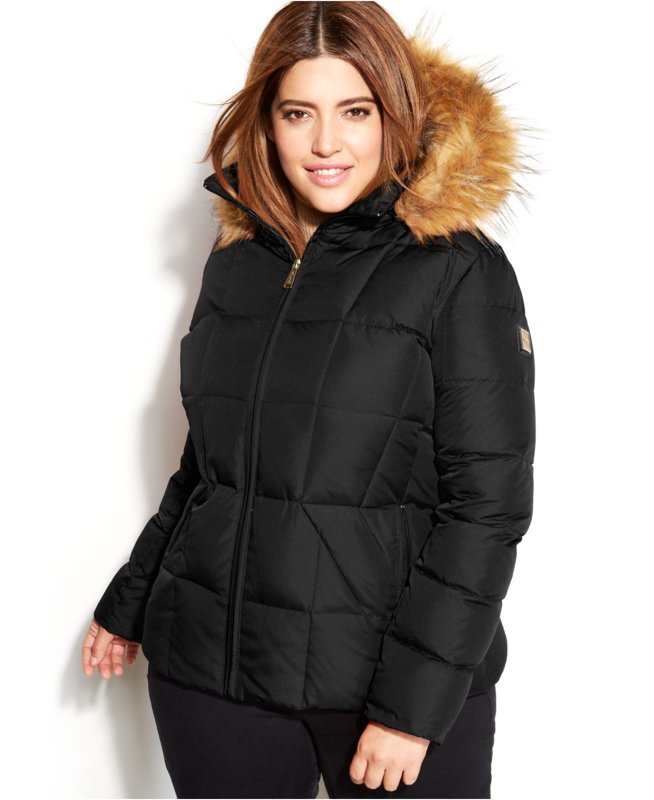 Plus Size Faux Fur Insert Hooded Asymmetric Coat - Black And Red - 2xl 4_5 (4) 58U26ANGS14 Note: For multiple item orders, the processing time will be based on the item with the longest processing time.